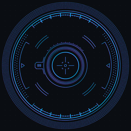 complex system: Ui & Data Design. Futuristic elements, vector background, isolated