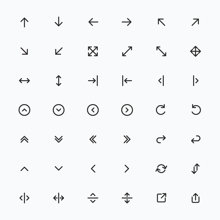 Ligne Flèche icon set   Vecteur