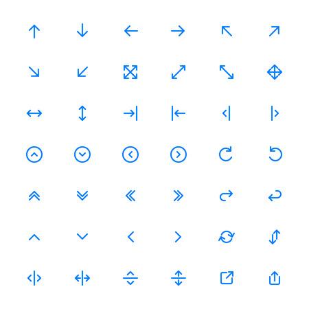 arrow icon: Line Arrow icon set | Vector
