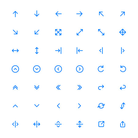 Linea Arrow icon set | Vettoriali