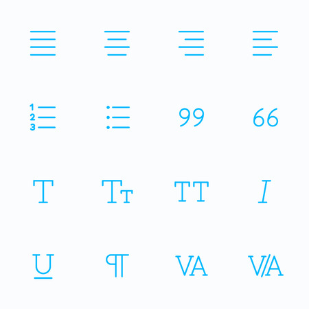 editor: Outline vector icons for web and mobile. Text editor Icons, 2 pixel stroke & 48x48 resolution
