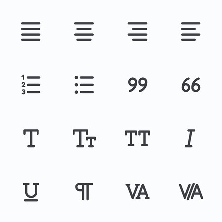 Outline vector icons for web and mobile. Text editor Icons, 4 pixel stroke & 48x48 resolution Illustration