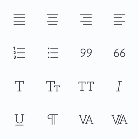 t document: Outline vector icons for web and mobile. Text editor Icons, 2 pixel stroke & 48x48 resolution