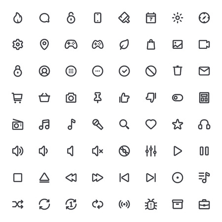 48x48: Outline vector icons for web and mobile.Thin Stroke Icons, 4 pixel stroke & 48x48 resolution