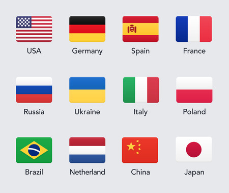 country flags: Country Flags icons. Vector illustration Illustration