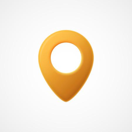 Icône du pointeur de la carte 3D. Marqueurs de carte Illustration