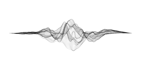 미래의 격자. 음악 음파 설정합니다. 오디오 디지털 이퀄라이저 기술, 펄스 뮤지컬. 일러스트