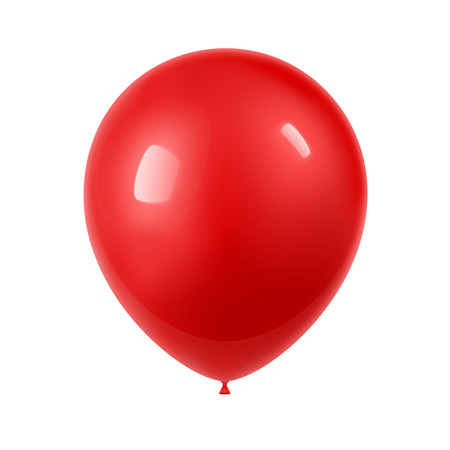 3d Realistic Colorful Balloon. Holiday illustration of flying glossy balloon. Isolated on white Background. Illustration 向量圖像