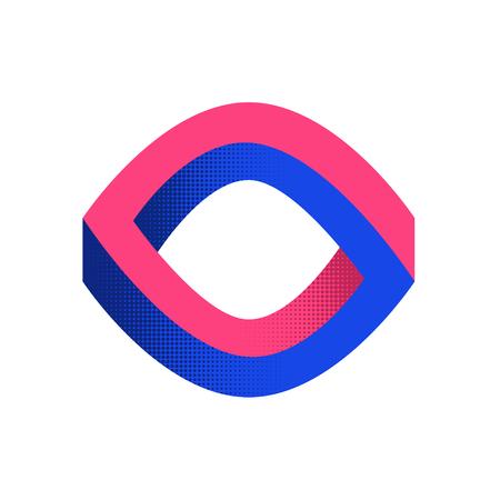 Impossible shape. Optical Illusion. Web design element. Line design. Vector illustration EPS 10