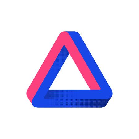 Forma imposible. Ilusión óptica. Elemento de diseño web. Diseño de línea. Ilustración vectorial eps 10