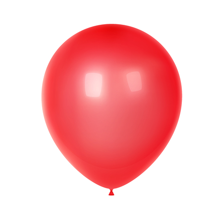 3d Realistic Colorful Balloon. Birthday balloon for party and celebrations. Isolated on white Background. Vector Illustration