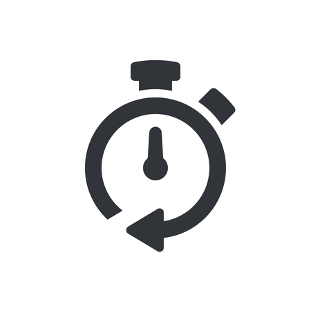 Timer icon. Timer symbol, pictogram. Vector isolated icon 向量圖像