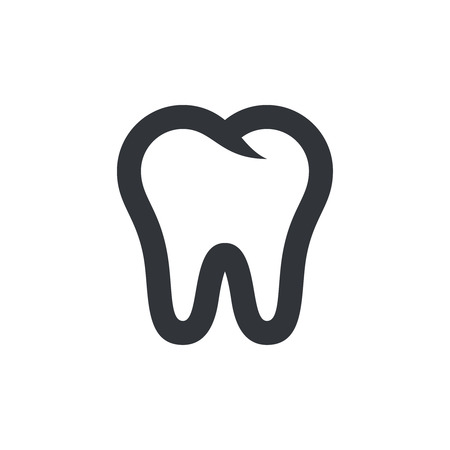 Tooth icon. Tooth symbol, pictogram. Vector isolated icon