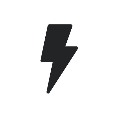Bolt icon. Bolt, lightning symbol, pictogram. Vector isolated icon
