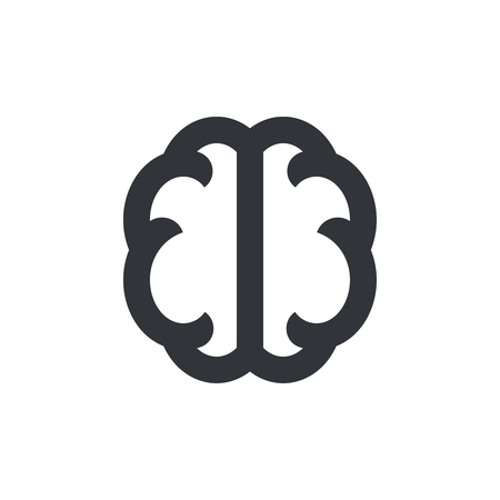 Brain icon. Brain symbol, pictogram. Vector isolated icon