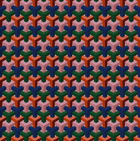Geometric illusion pattern. Vector backgound