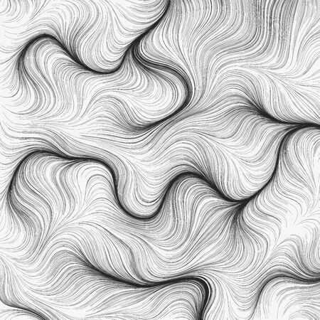 Flow field background. Vector lines composition. Geometric waves lines pattern.