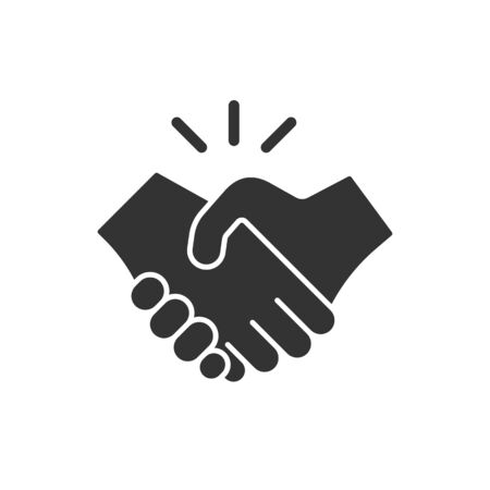 Business handshake / contract agreement flat vector icon for apps and websites Stockfoto - 142029392
