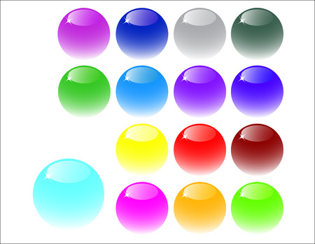 web buttons made of glass Vector