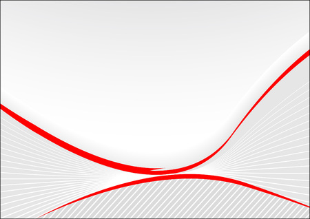 Grey card with red lines; clip-art Vector