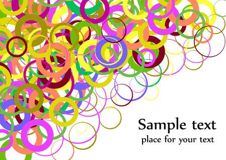 Confetti colorful background splash effect; clip-art Vector