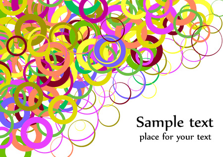 Confetti colorful background splash effect; clip-art Stock Vector - 5075972