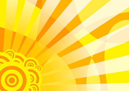 Orange solar summer banner; clip-art Vector