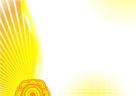 Solar power card; clip-art Vector