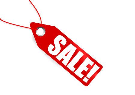 pricetag: Red pricetag showing sale. Vector illustration Illustration