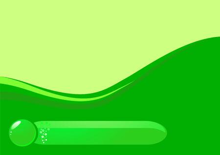 waterdrop: Waterdrop green ecological banner.