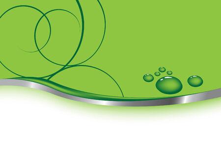 waterdrops: Green business card - waterdrops.