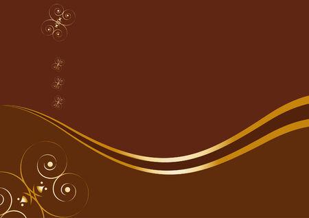 Chocolate card design template.  Vector