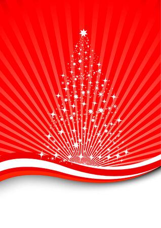 lighted: Christmas magic - magical tree.  Illustration