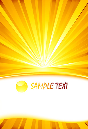 Sunburst card template.  Vector