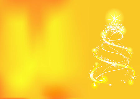 Christmas background with tree and stars. Vector illustration Vector