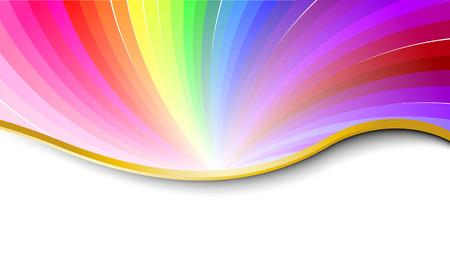 arcobaleno astratto: Arcobaleno astratto modello. Illustrazione vettoriale