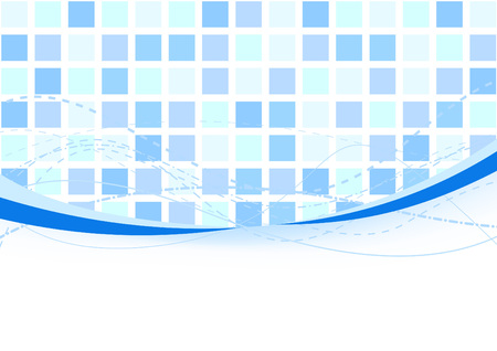 Background - blue tiles. Vector illustration Illustration