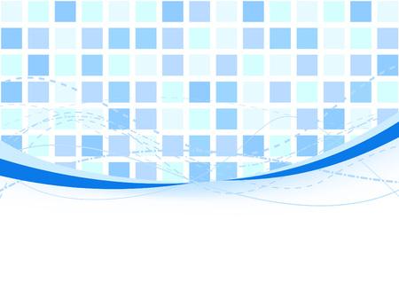 Background - blue tiles. Vector illustration