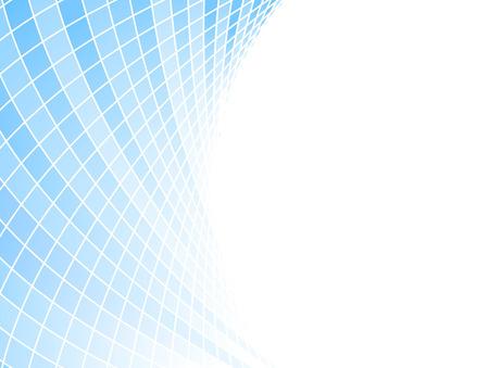 Blue halftone business card - tiles. Vector illustration