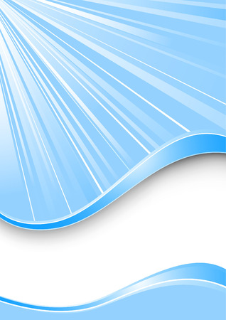 Ray background - blue color. Vector illustration Vector