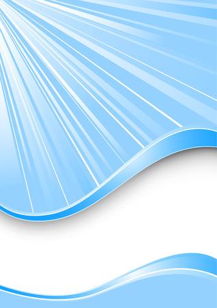 Ray Hintergrund - blaue Farbe. Vektor-Abbildung
