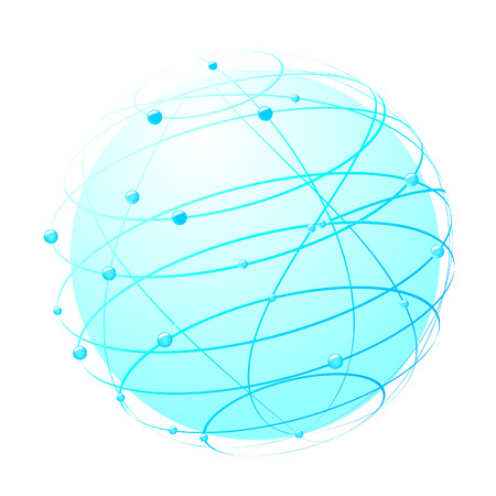 inside the web - world concept. Vector illustration Vector