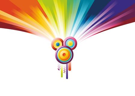 Rainbow party banner. Vector illustration