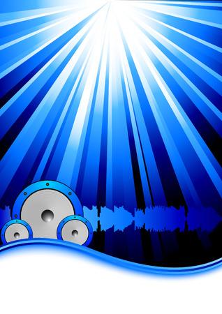 Blue party banner template. Vector Stock Vector - 6280374