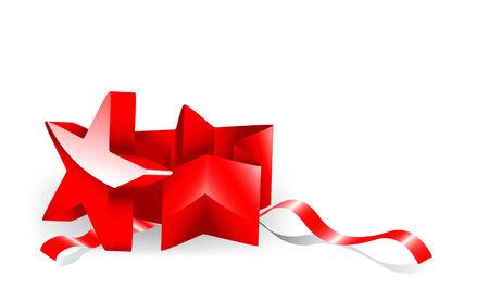 Starshaped giftbox. Vector illustration