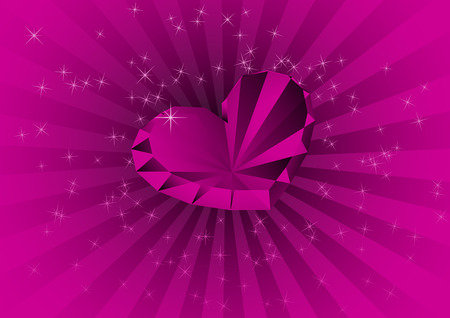 Card with violet diamond. Vector illustration Vector