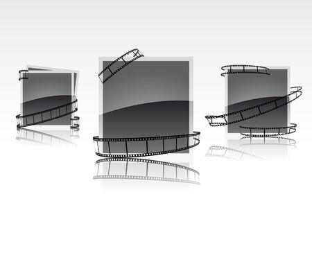 Film frames; clip-art Vector