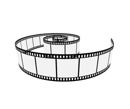 Isolated film; clip-art