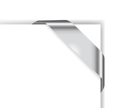 corner flag: Card with chrome ribbon; clip-art