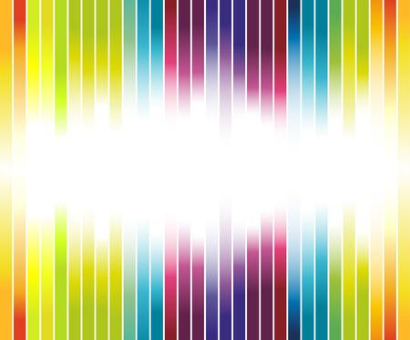 Colorful rainbow advertisement Vector